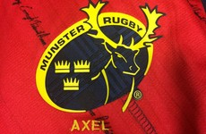 Munster to wear commemorative 'Axel' jersey for this season's European campaign
