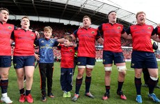 Anthony Foley's two sons join Munster squad on pitch for emotional rendition of 'Stand Up and Fight'