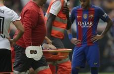 Tearful Iniesta suffers knee injury