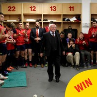 The photos of Michael D visiting the Munster dressing room are a joy to behold