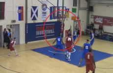Templeogue's Lorcan Murphy puts down tasty reverse dunk against UCC
