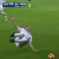 Ex-Liverpool defender sent off for two-footed lunge in Milan defeat