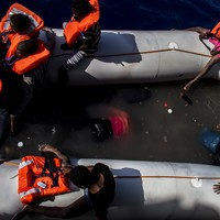 29 migrants die in toxic pool of fuel and seawater off coast of Libya