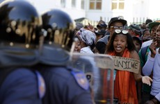 A row over college fees in South Africa has escalated into major unrest