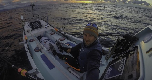 What drives a man to row 5556km, solo, across the Atlantic Ocean?