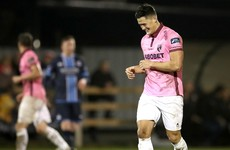 Watch hurling star Lee Chin score a cracking volley for Wexford Youths