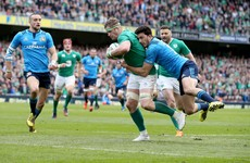 Jamie Heaslip's score against Italy shortlisted for Try of the Year