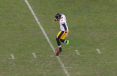 NFL kicker attempts a rabona... it does not go well