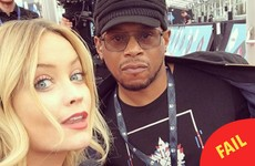 Laura Whitmore caused a load of confusion by appearing in two places at once on 'live' telly