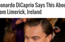 That viral story about Leonardo DiCaprio talking about Limerick ladies is a fake