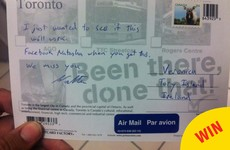 A Donegal woman proved to her Canadian husband just how good An Post are