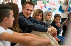 """They want to be doctors, lawyers and engineers to rebuild Syria"" - Liam Neeson meets refugee children"