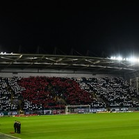 Northern Ireland fans unveil huge poppy display against Azerbaijan