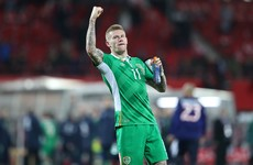 'Warrior' James McClean played tonight with a torn back muscle