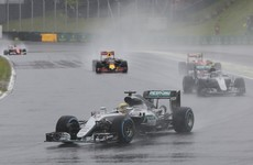 Lewis Hamilton wins chaotic Brazilian GP to take F1 title fight to the final race