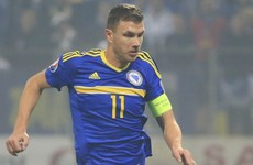 Edin Dzeko sent off for pulling down opponent's shorts