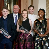 These wonderful teenagers were honoured today at the Irish Carers of the Year Awards