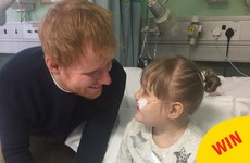 Ed Sheeran surprised a little fan by showing up at her hospital bed to serenade her