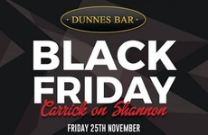 A pub in Carrick-on-Shannon is selling pints of Guinness for €1 on Black Friday