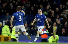 Seamus Coleman heads home late to earn a draw for Everton