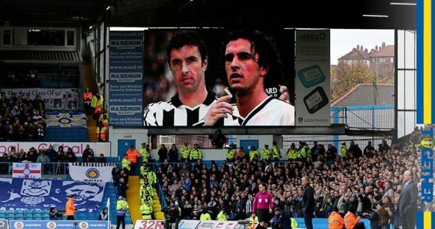 Leeds and Newcastle fans unite to pay touching tribute to Gary Speed