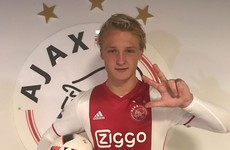 Ajax's teen sensation Kasper Dolberg grabs 18-minute hat-trick