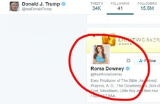 Why does Donald Trump follow this Irish actress on Twitter?