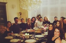People think this dinner party photo has proof Cheryl is pregnant... it's the Dredge