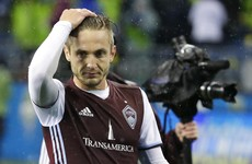 Bleedin' Rapid! Kevin Doyle scored a crucial away goal for Colorado last night