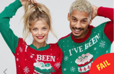 ASOS is selling a two-person Christmas jumper and it's... really something