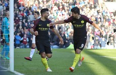 Sergio Aguero-inspired Man City edge past Burnley