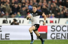 Barrett caps stellar year with try and All Black victory in Paris