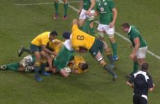 Wallabies flanker Mumm cited for dangerous lifting on Ireland's Furlong