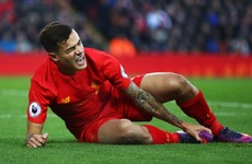 Coutinho thanks Liverpool fans for support as he prepares for injury lay-off