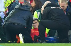 Blow for Liverpool as ankle injury rules Coutinho out for six weeks