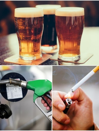 Booze, petrol, cigs: This is how much an extra 10 cent on our 'luxuries' would bring in