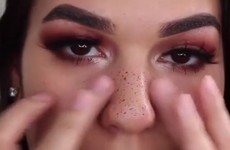 A video of a girl applying 'fake freckles' to her face is going insanely viral on Facebook
