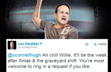 "Leo Varadkar just told Willie O'Dea to ""chill"" on Twitter over his new DJ job"