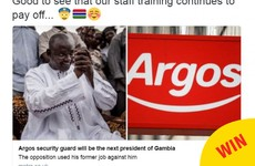 Argos had the best response to a former employee being elected President of Gambia