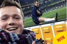 This Irish rugby fan's cheeky selfie with referee Nigel Owens ended in a sound gesture