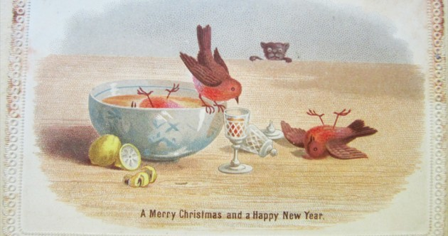 Drunken robins, oysters and sailors: 24 cards of Christmas past