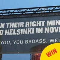 This brilliant sign welcoming visitors to wintry Helsinki has gone viral