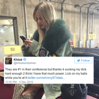Khloe Kardashian asked a basketball fan to 'lick on her balls' for suggesting she's bad luck... it's the Dredge