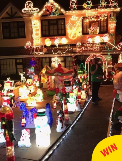 A Dublin man pulled out all the stops with his Christmas lights this year for the loveliest reason