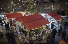 The good people of Sligo have built this Christmas market inside an airport hangar