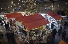 The good people of Sligo have built this Christmas market inside an airport hangar