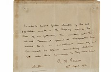 Poll: Should the Government have bid on Padraig Pearse's surrender letter?
