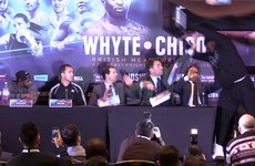 Chisora handed 2-year suspended sentence and a hefty fine for table throwing