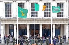 A massive chunk of the 1916 Jacob's Tricolour has been handed back to Ireland