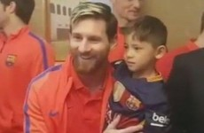 Six-year-old Afghan boy who wore plastic bag as Messi jersey meets his hero